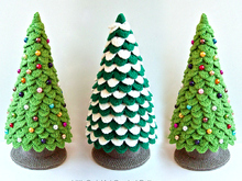 085 Crochet Pattern Christmas Tree New Year Amigurumi - by Zabelina Cp