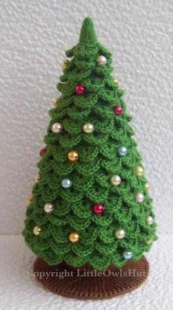009 Knitting (branches are Crochet) Pattern - Christmas Tree New Year pattern - Amigurumi by Zabelina Cp