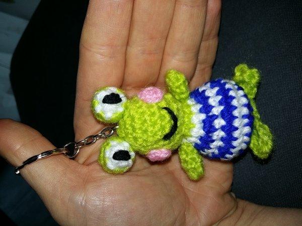 Schlüsselanhänger Frosch 2 0 Gehäkelt