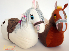 Ride-on plush horse