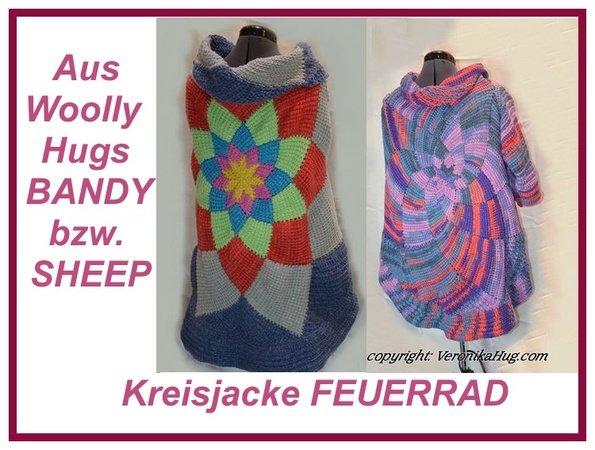 Kreisjacke Kreisweste Feuerrad Aus Woolly Hugs Bandy Oder Sheep