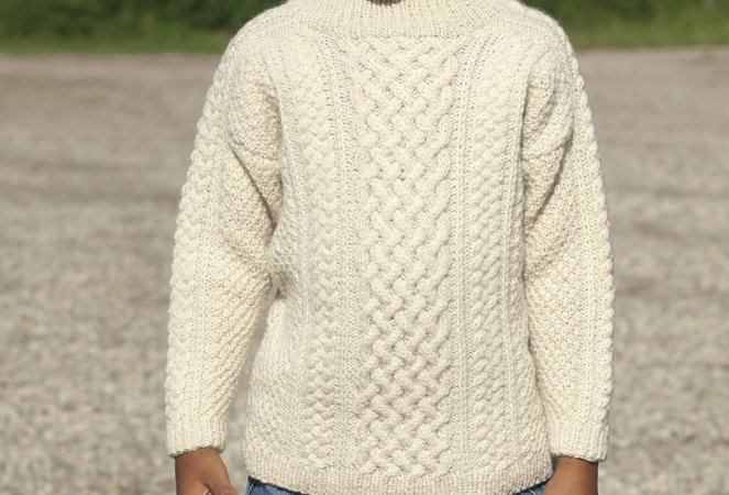 Liam - Aran sweater for children
