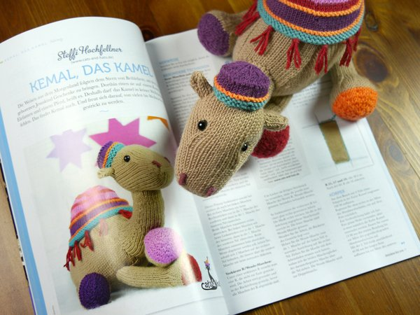Kemal The Camel knitting pattern