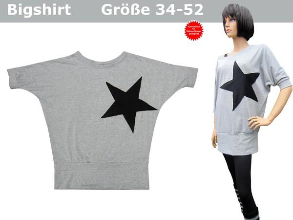 Bigshirt/Fledermausshirt, Damen Shirt - Schnittmuster & Nähanleitung