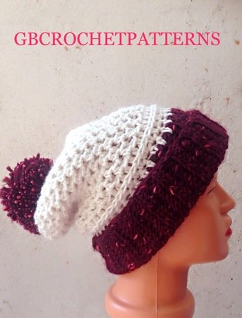 Shane Slouchy Beanie Crochet Pattern Slouchy Hat Sizes Toddlers Up