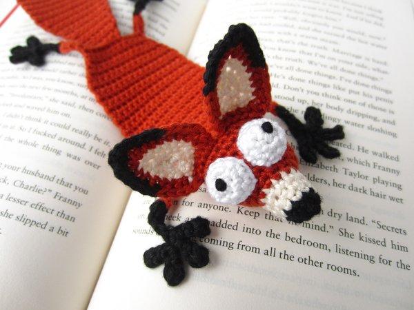 Amigurumi Forum Net : Crochet fox bookmark