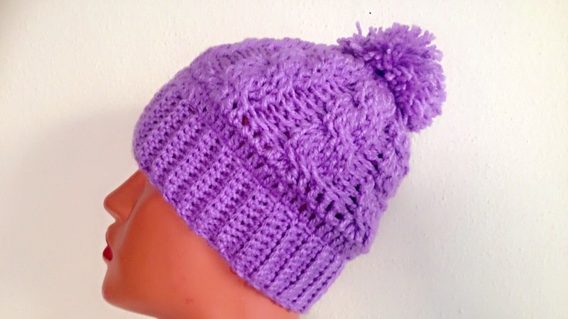 Quick And Easy Cabled Beanie Crochet Pattern Eli Beanie Pompom Hat