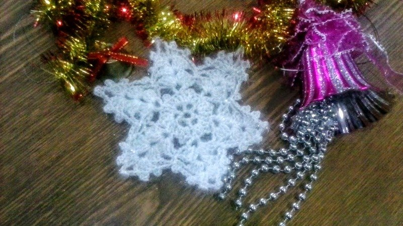 Сrocheted snowflakes crochet with diagrams pattern
