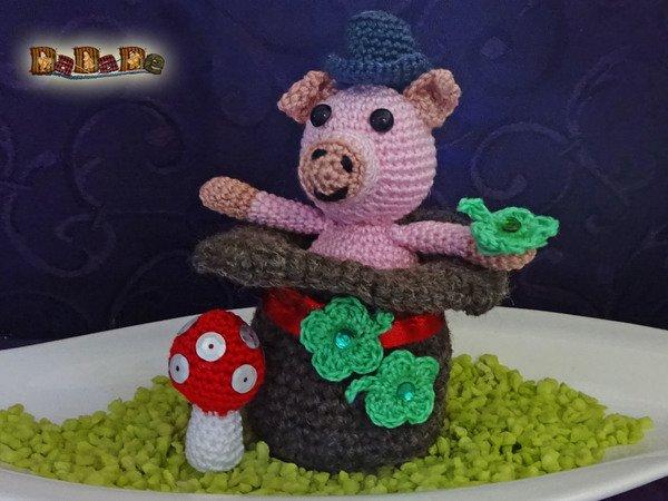 Das Schwein Im Zylinder Dekoration Für Silvester Gehäkelt Von Dadade