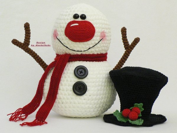 Snowman and Friends -- Crochet Pattern by Haekelkeks