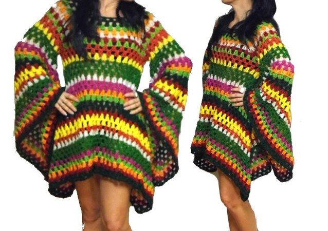 Crochet Pattern Hippie Dress Tunic E Book Us English