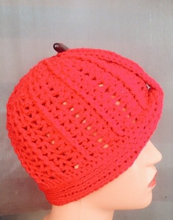 Beginner's Crochet Cloche hat, turban style beanie, sizes Toddler to Adult