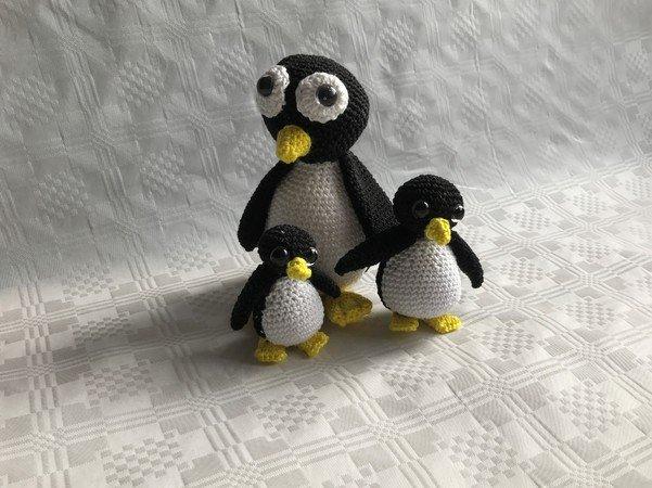 Häkelanleitung Für Eine Amigurumi Pinguin Familie