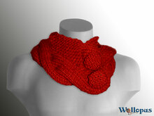 Collar scarf - self knitted