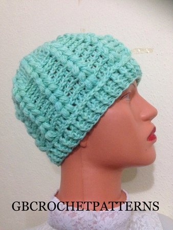 Crochet Pattern Puff Stitch Gwen Puff Beret Sizes From Kids To