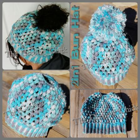 Messy Bun Hat Muetze crochet pattern 956eaf79f8d
