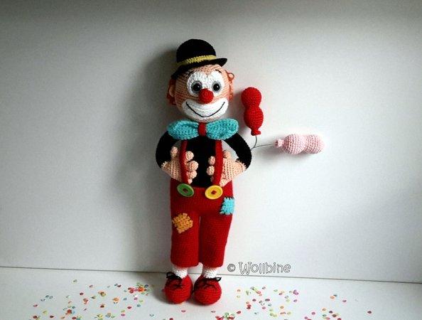 Clown Häkeln Dekorativ Und Verspielt