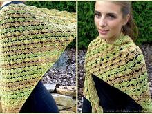 Crochet Pattern for a triangle shawl | 3-Eckstuch *Breeze of Fall*