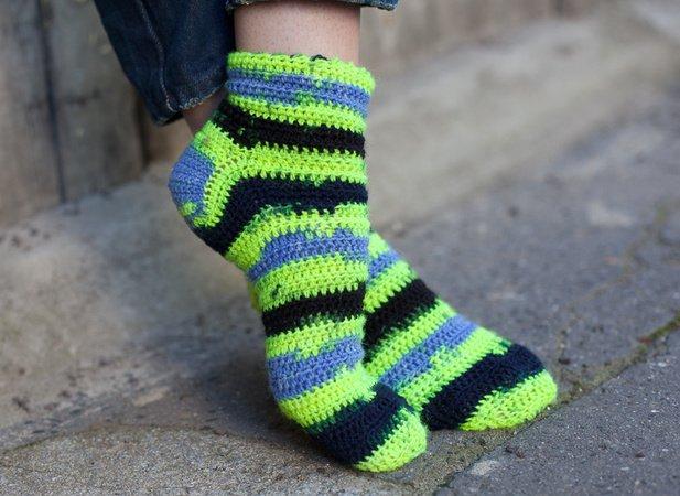 Socken Häkeln In Größe 3839