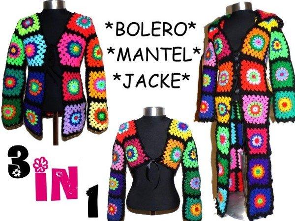 E Book 3 In 1 Bolero Jacke Mantel Mit Kapuze