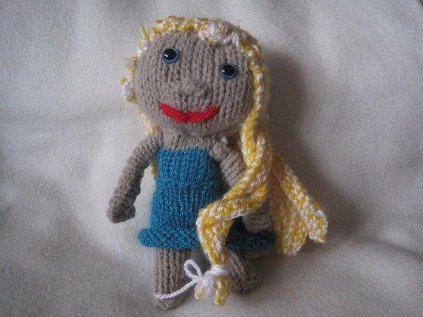 Strickanleitung Puppe Mini 12 cm, ideal auch für Anfänger