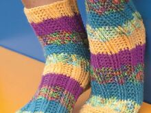 "Spiralsocken ""Take five"" Häkeln"