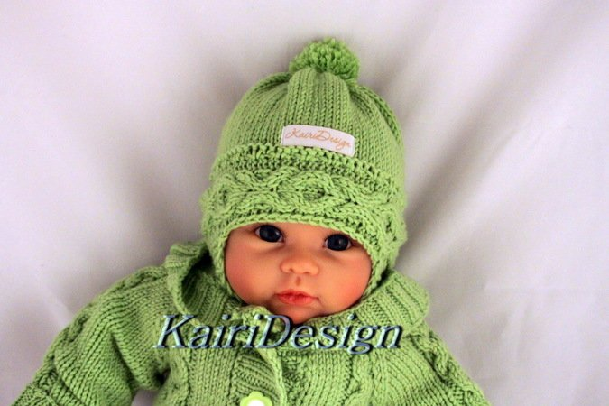 "Baby hat knitting pattern 40/42 or 22"" baby doll"