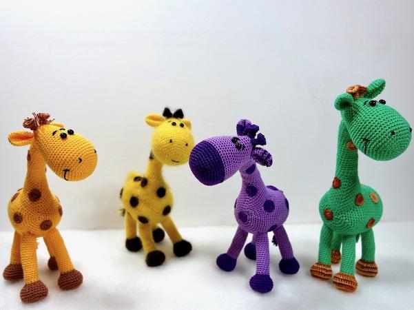 Giraffe häkeln / Mini-Tiere / Herde häkeln