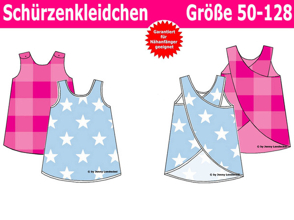 Schürzenkleid Schnittmuster & Nähanleitung, Kleid für Kinder und Babys