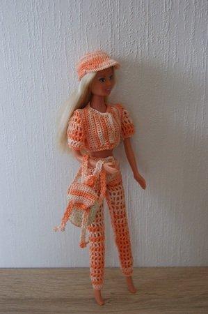 Häkelanleitung Barbie Set 4 Teilig Hose Jacke Kappe Rucksack