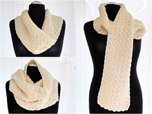 "Scandinavian Winter Scarf ""Hygge"" Crochet Pattern"
