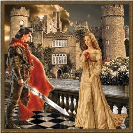 Tristan and Isolde:cross stitch pattern PDF