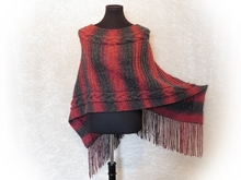 Knitting pattern Poncho Siria