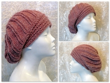 Knitting pattern hat, beanie, slouch, toque Varya