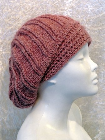 Knitting Pattern Hat Beanie Slouch Toque Varya