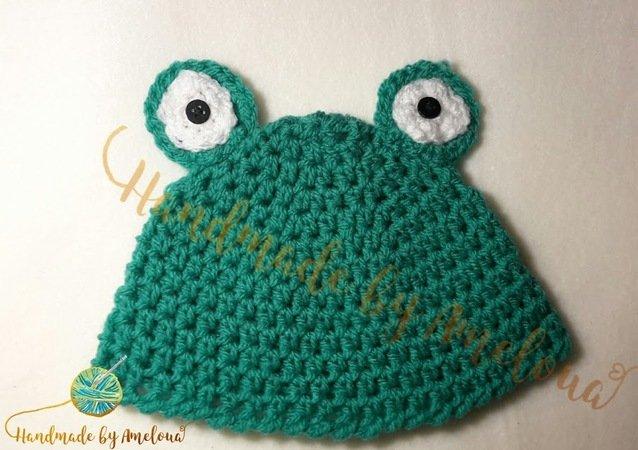 Kostenlose Baby / Kinder / Neugeborenen Frosch Mütze
