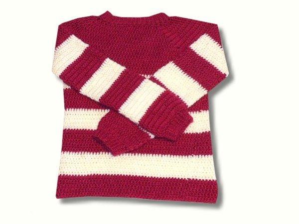 Häkelanleitung - Basic Pullover - alle Größen - sehr einfach