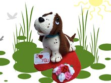 Bruno - Valentine Hond Haken patroon PDF Deutsch - Englisch - Dutch