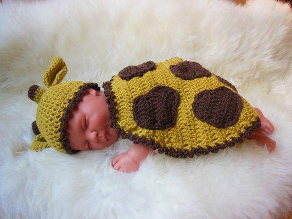Babykostüm Giraffe Häkelanleitung