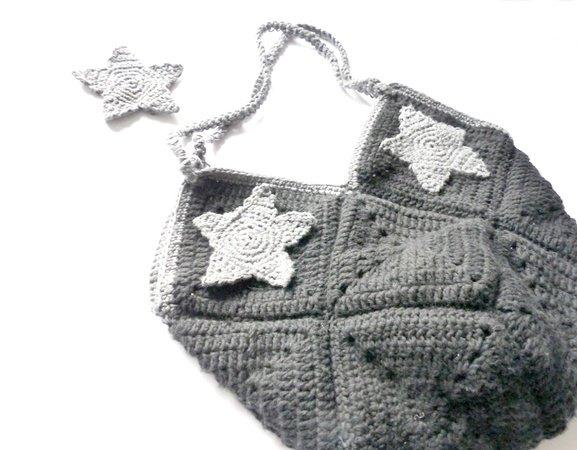 Tasche aus Granny häkeln mit Sternen, E-Book