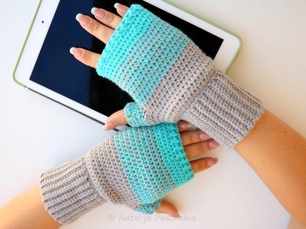 Handschuhe oder Armstulpen für Erwachsene - Häkelanleitung 2 in 1