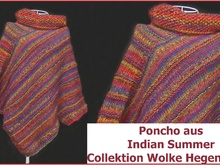 Poncho aus Indian Summer (Wolke Hegenbarth) stricken