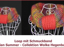 Loop mit Bindeband aus Indian Summer gestrickt