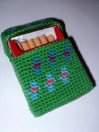 Häkelanleitung Zigarettenhülle Blümelein