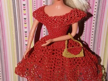 Häkelanleitung Barbie Set 3 teilig Abendkleid,Haarband,Clutch