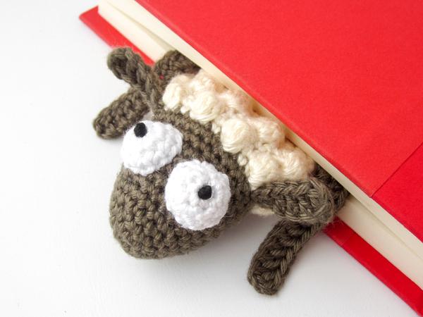 Lesezeichen Häkeln Schaf Als Lesezeichen