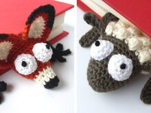 Fox and Sheep Bookmark Bundle