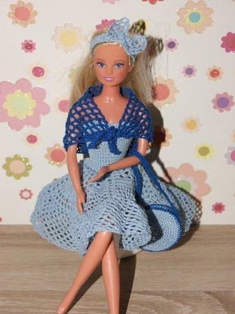 Häkelanleitung Barbie Set 4 Teilig Kleid Schultertuch Haarband Tasche