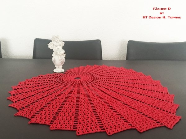 Crochet pattern Fächer