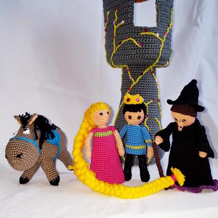 RAPUNZEL - Amigurumi Pattern Crochet Doll Pattern Amigurumi ... | 450x450